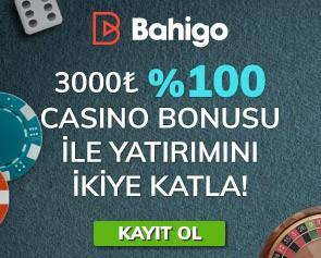 Bahigo Casino Hoş Geldin Bonusu